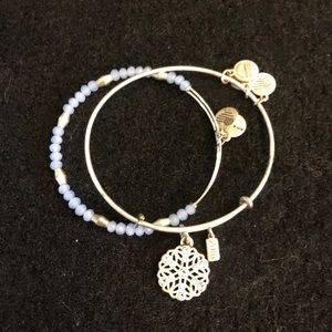 Alex and Ani Snowflake and Blue Beaded Bracelet ❄️